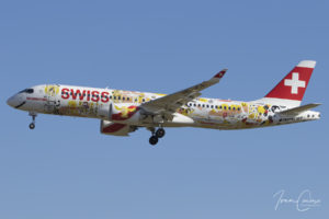 Brussels Airport Bombardier CSeries CS300 | Swiss International Air Lines | Registration: HB-JCA | Msn: 55010 | Name: Fichtre