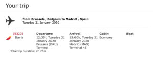 Trip report from Brussels to Madrid with an Iberia Airbus A340-600 in Business Class.
