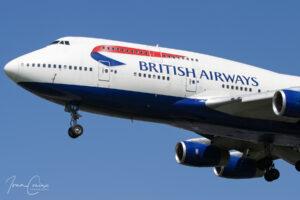British Airways Boeing 747-436 Jumbo Jet.